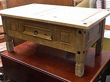 A pine single drawer occasional table, 24'' x 40''