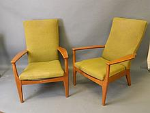 A pair of 1960s Parker Knoll open armchairs, model