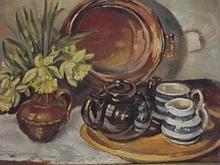 Jane Flower, 'Still Life', oil on board, 12