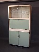 A 1950s 'Eastham' kitchen cabinet with fold down work surface over a fitted