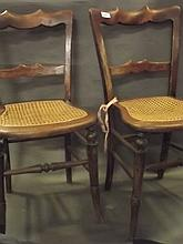 Two Victorian cane seat bedroom chairs (sold on behalf of the Royal Naval A