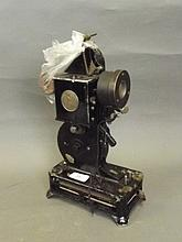 A 'Pathé Baby' 9.5mm film projector, 13'' high,