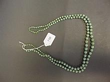 A good C19th Chinese jade graduated bead double