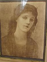 Sir Edward Burne-Jones, a C19th platinum print, sk