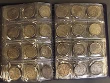 A collection of replica Chinese white metal coins,