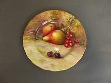 A Royal Worcester dish painted with fruit, signed