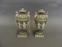 A fine pair of early 19th Century Wedgwood twin