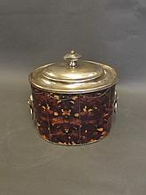 A 19th Century silver plate and faux tortoiseshell