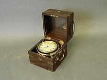 A 19th Century mahogany cased marine two day