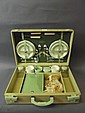 A 1950s Brexton picnic set fitted with pottery
