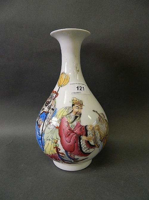 A good Chinese porcelain vase painted in