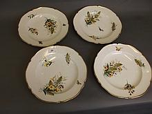 A set of four C19th Capodimonte pottery dishes
