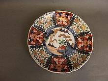 A good quality C19th Japanese Imari dish painted