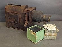 A Magic Lantern projector with original wiring, an
