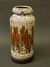 A Continental Art Pottery vase, 12'' high