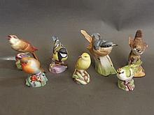 Five Royal Worcester studies of birds to include 'Robin 3197', 'Wood Warble
