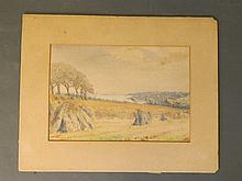 An early C20th watercolour, Isle of Wight, indistinctly signed, 14¼'' x 10