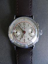 A 1950s Rolex Chronograph gentleman's wristwatch, in a steel case, dial 1¼