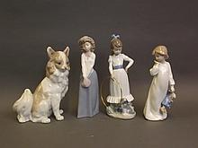 Four Nao pottery figures, 9½'' high