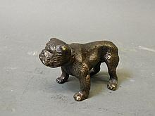 A bronze figure of an English bulldog, 3½'' long