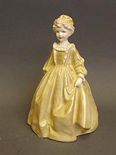 A Royal Worcester porcelain figure 'Grandmother's Dress' 3081 modelled by F.G. Doughty, 6¾'' high