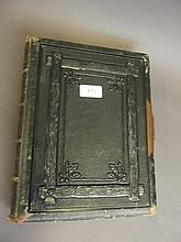 A Victorian photograph album and contents