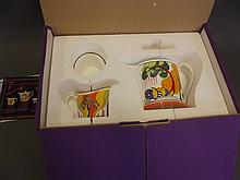 A Wedgwood Limited Edition Clarice Cliff tea service, boxed