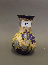 A Gouda Art Pottery vase, original label to base, 5¼'' high