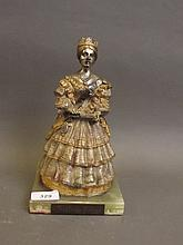 A good quality Franklin Mint cold painted bronze figure of Queen Victoria, 9¼'' high