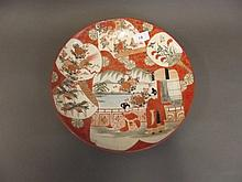 A Meiji Kutani charger decorated with birds and