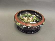A Chinese cloisonné bowl decorated with a dragon