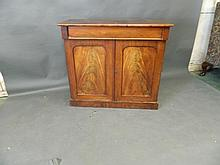 A Victorian mahogany chiffoniere with single drawer over two cupboards, 40'' x 16½'', 36½'' high