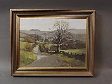 John Stephen, oil on board, 'Lane near Cocking', signed, 16'' x 12''