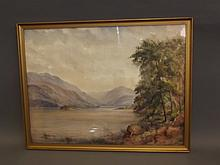 W. Baker, a late C19th/early C20th watercolour, Lake District landscape scene, signed, 21'' x 16''