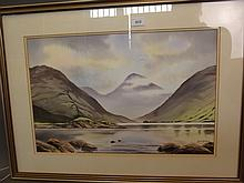 Paul Pinday, watercolour, 'Wastwater, Cumbria', signed, 29'' x 21½'', including frame