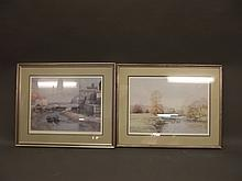 Robert Richardson, two signed limited edition prints, coastal scenes, 22'' x 15½''