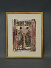 Haig (The Earl Haig), signed pastel, study of Gothic archways, inscribed verso 'St. Marys Dryburgh', 10'' x 14''