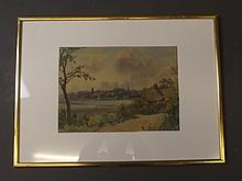 S.H. Cotter, watercolour, River Deben scene, signed, 13¼'' x 9½''