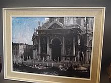A large colour print, Venetian scene, 33½'' x 26'', Best Bid