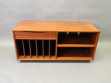 A Danish rosewood low sideboard by Salin of 3800 Nyborg, 47½'' x 20'', 22'' high