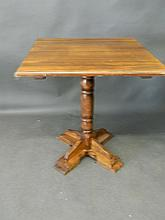 An early C20th beech pub table, 27'' square, 28½'' high