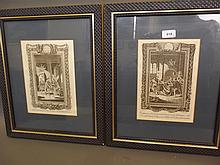 A pair of framed C19th engravings, 'Raymond's History of England', 18½'' x 60''