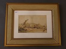 G.V. Cole, watercolour, landscape scene of Holmwood, pencil dated 1869, 11¼'' x 7½''