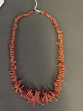 A graduated coral necklace, 17