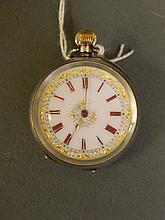 A 925 silver fob watch