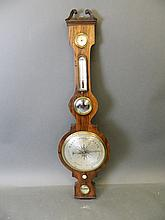 A 19th Century rosewood five glass barometer by I.
