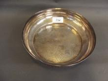An Eastern silver bowl with engraved decoration, 7¾'' diameter, 342g