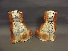 A pair of early 20th Century Staffordshire pottery