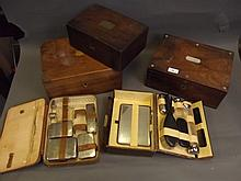 A quantity of Victorian writing slopes, boxes,