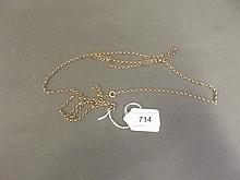 A 9ct gold longuard chain, tested, 41